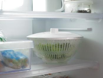 豆腐ややわらかい果物などもやさしく押しつぶすことなく水切りができます。また大きさも約Φ236×H138mmとコンパクトなので、そのまま冷蔵庫で保存できるので忙しい朝にとっても重宝しそう。