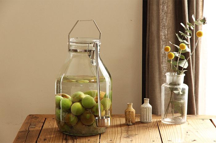 たっぷりと果実酒を仕込みたい人には4Lがおすすめです。口が広くて出し入れしやすく、洗浄も楽ちんです。