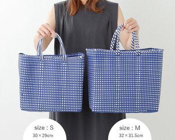 MとSのサイズは一回り違い。どちらも使いやすく便利なサイズです。