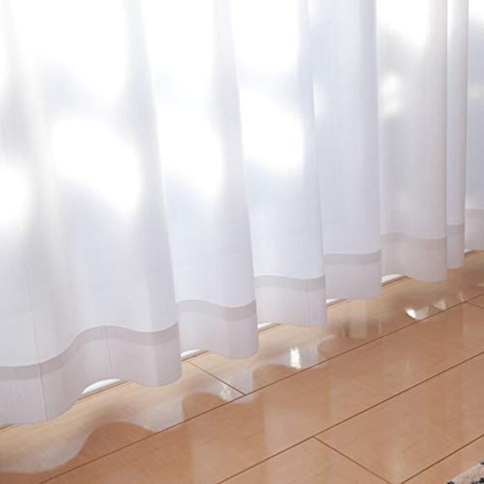 【15サイズから選べる】日本製 UVカット率92.4% 遮熱 保温 省エネ 昼も夜も室内が見えにくい 防炎タイプ ウォッシャブル ミラーレースカーテン/防炎ナインティ サイズ 100x118cm 2枚組