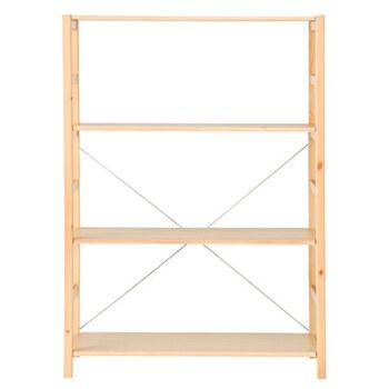 こちらはパイン材の特徴を生かしたナチュラルなユニットシェルフです。節が多く、明るい色合いが印象的で、ナチュラルな雰囲気のリビングによく合います。  パイン材は軽いので、ほかの木材を使用した家具と比べて、組み立てや持ち運びがしやすいのがポイント。お値段も本体は10,000円前後、オプションパーツも3,000円前後とリーズナブルで、揃えやすいのも嬉しい◎