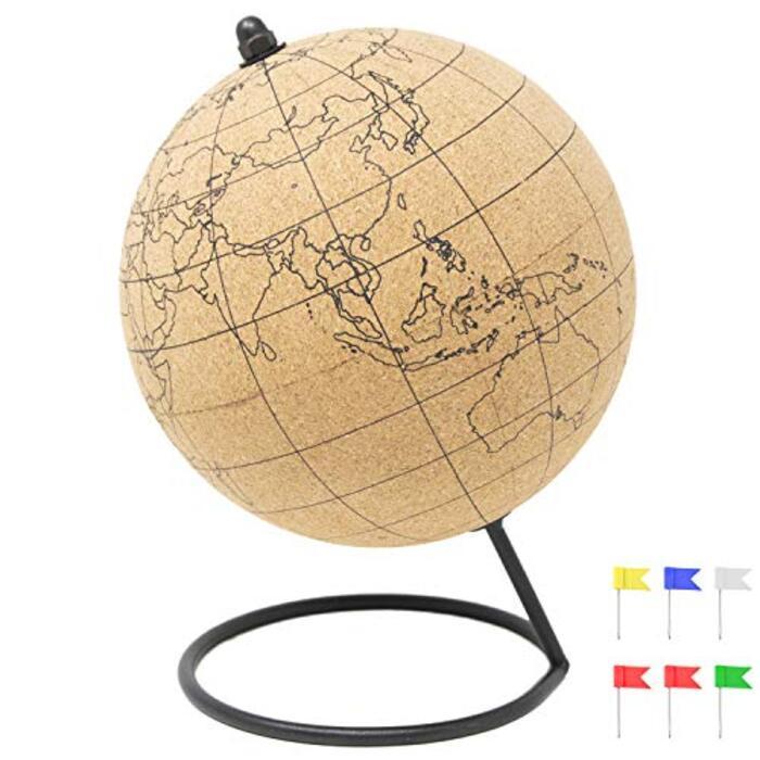 コルク製 地球儀