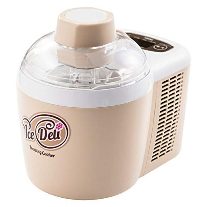 ハイアール アイスクリームメーカー アイスデリ プラス ベージュ 事前冷却不要 JL-ICM720A