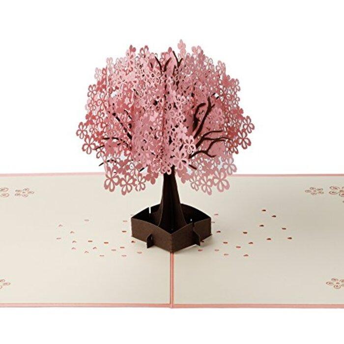 グリーティングカード 桜咲く可愛い手紙  封筒付き