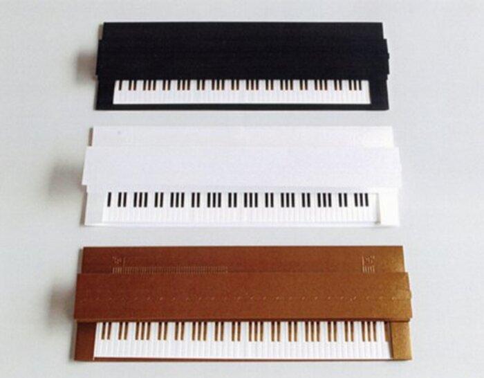 D-BROS クリスマスカード「ピアノカード」 (ゴールド)