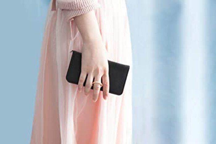 CASEBANK iPhone X/iPhone Xs 用ケース 手帳型 リング付き スタンド機能 Qi充電対応 高級PU レザー カード収納 ストラップ穴 マグネット 落下防止 実用新案取得済 (サフィアーノブラック)
