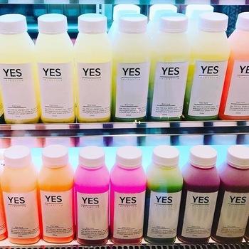 「YES TOKYO」は、疲労回復やむくみ改善など女性のさまざまなお悩みに応えてくれるコールドプレスジュースが揃っています。その数、なんと18種類。