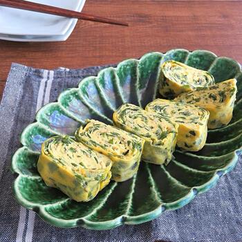 わかめスープのような味わいの中華風の卵焼き。マンネリ打破に活躍間違いなしの一品です。ヘルシーなのも嬉しいポイント。