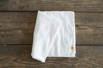量も少なく型崩れも心配なので、脱水にはタオルを使います。清潔なものを用意しましょう。大きさは小さくてOK。