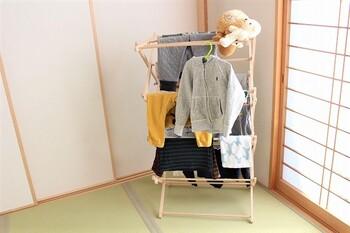 さらに、ぬいぐるみを置いたりハンガーを引っ掛けたり…と、想像以上にお洗濯の時間に大活躍してくれるアイテムなんです。