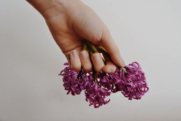 紫は青と赤の要素をもつ色のため、テンションを程よく高めつつ、精神的な疲れを取ってくれる作用が期待できます。リラックス効果も高く、内側から体を元気にしたいときに活用したいカラーです。