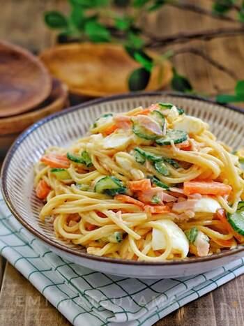 わが家の味を見つけよう。「スパゲティサラダ」の基本レシピ~華やかアレンジまで