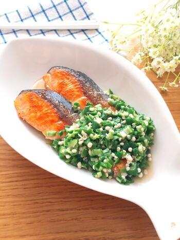 調味料と混ぜるだけでできるタレは、何にでもかけることができます。魚類はもちろん、肉やサラダなどにも合いますよ♪レンチンで出来るのも嬉しいポイント。作り置きをしておけば、手軽に栄養をプラスできます。