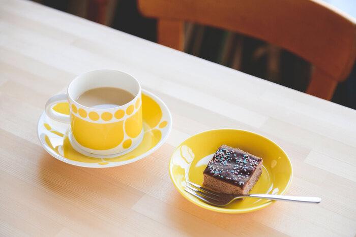 スコープはみんな料理上手。この日はスタッフ・マツヲさん手作りの「mokkapala」(※フィンランドのモカケーキ)で迎えてくれた