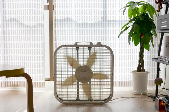 2.8Kgと軽くて薄いので、持ち運びもラクでどこにでも置けます。暑さ対策としてはもちろん、湿気の多い季節の部屋干しの際も大活躍!
