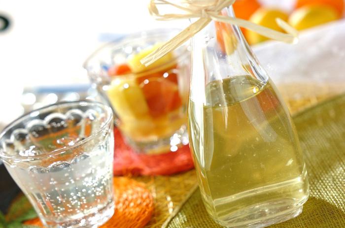 リンゴ酢とパイナップルとトマトで作る自家製ジュースのレシピです。水やお湯のほかにも、炭酸や牛乳などいろいろな割り方を楽しめます。ドレッシングやソースとしても使えるので、冷蔵庫にストックしておくと活躍してくれますよ。フルーツビネガーは身体が疲れがちな夏にもおすすめです。
