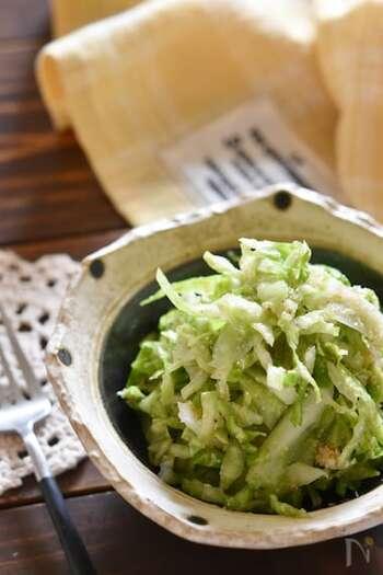 キャベツの大量消費におすすめのレシピ。ごまの風味がやみつきになります。作り置きも可能。