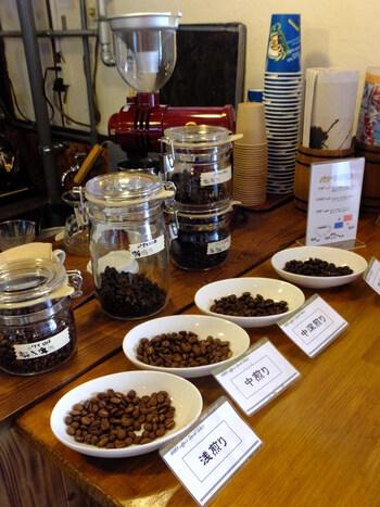 浅煎りから深煎りまで、とにかくコーヒー豆の種類が多いのが特徴。コーヒー通の方も驚くほどのラインナップをぜひチェックしてみてくださいね。