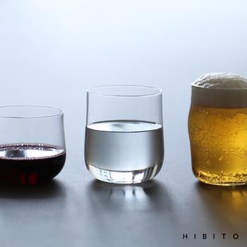 3種類あるグラスはどれも材質はソーダガラスで、適度な厚みがありながら、口当たりの良さもしっかりキープされています。