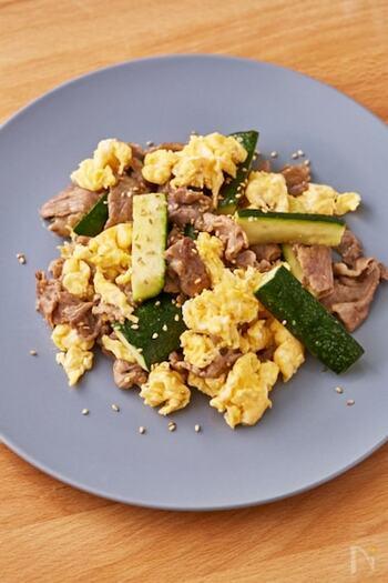 あっさりめの炒め物なら、チャンプルー風にしても好相性。ゴーヤよりも食べやすく、さっぱりしていて大人から子どもまで食べやすくなります。
