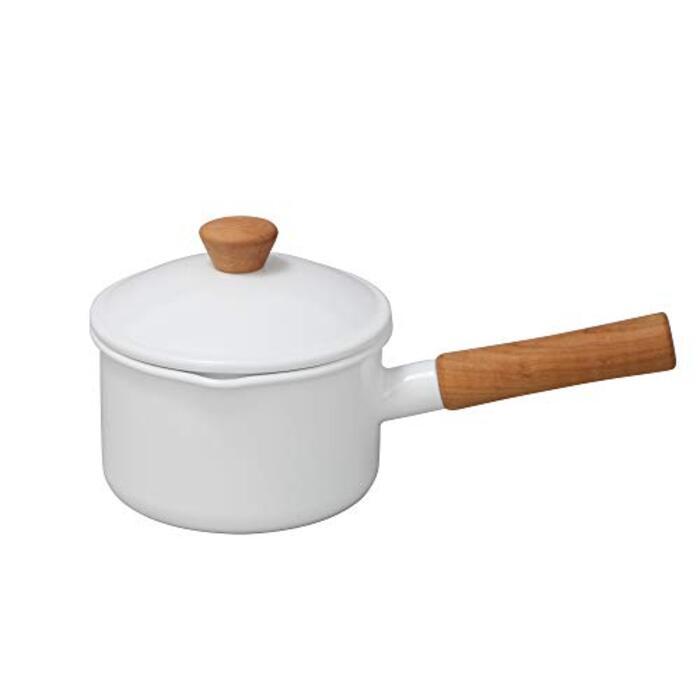野田琺瑯(Nodahoro) ソースパン ホワイト 14cm クルール