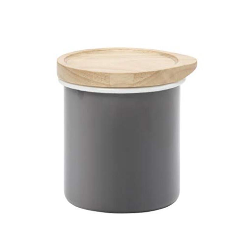 シービージャパン キャニスター グレー 0.6L ホーロー 保存容器 THE ALAW