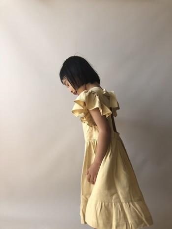 ロンドンのブランド「KOKORI」のサマードレス。背中が開くデザインで、水着の上に着てビーチドレスとして着ても可愛いです。インナー次第で年中着ることが出来そう!