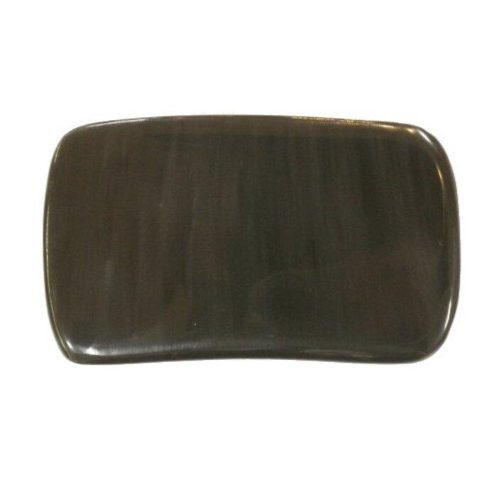 かっさ プレート 厚さが選べる ヤクの角(水牛の角)  長方形大 特級品 厚め(7ミリ程度) 穴あり