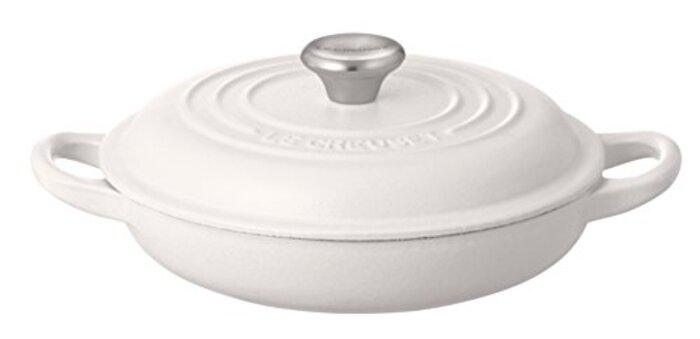 ル・クルーゼ(Le Creuset)  鋳物 ホーロー 鍋 ビュッフェ・キャセロール 18 cm ホワイト