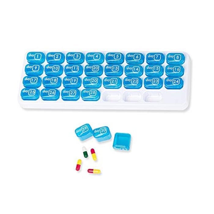 ピルオーガナイザーボックス 1ヶ月錠剤保管用