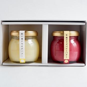 「shizenguri_honpo」の上品な変わり種バターセットはいかがでしょうか?フルーツを使ったバターは、パンやパンケーキなどに塗って食べたくなるおすすめの一品です*