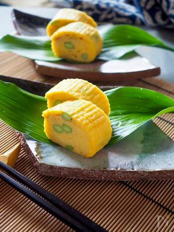 卵の黄色に枝豆のグリーンがよく映えます。お弁当に入れると存在感があり、彩りが良くなります。