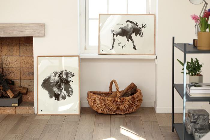 動物の美しさ、力強さがよく表現されたポスターです。モノクロでかっこいいポスターは、部屋を一層上質な空間にしてくれそう。動物の新たな魅力を発見してくださいね。