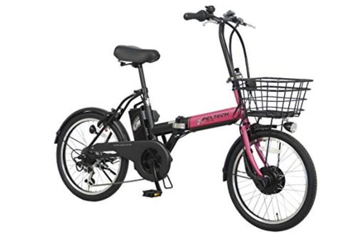 PELTECH(ペルテック) 折り畳み電動アシスト自転車 20インチ(TDN-208) (ピンク×ブラック)