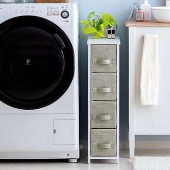 引き出しタイプも、衣類やタオル、小物をたっぷり収納することができて便利です。不織布の引き出しで、柔らかな雰囲気を演出してくれます♪