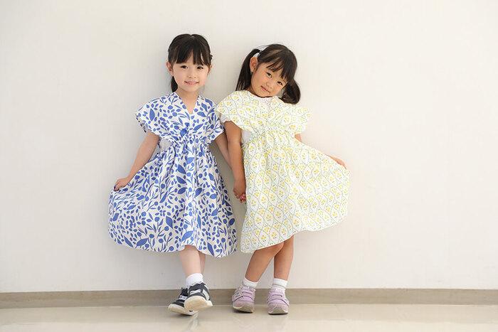 子どもにとって、ママが作ってくれた手作りのお洋服は宝物ですよね。好きな生地を選んで、とびきりかわいいワンピースを作ってあげてはいかが? 2mの生地を半分こして、ママはブラウス、子どもはワンピ…なんてリンクコーデも素敵です。