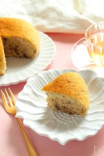卵も小麦粉も使わず、こんなにもちもちした食感のケーキができるなんて思わず感動!お好みでホイップクリームやバニラアイスを添えてもGOOD。