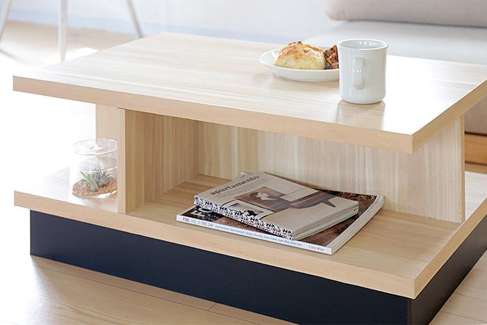 """こちらは、リビングにぴったりの北欧風のテーブルです。ものを大切に長く使う北欧の生活スタイルを参考にした家具を提案するブランド「enkel(エンケル)」のアイテム。ブランド名は、スウェーデン語で""""シンプル""""を意味しているのだそう。コンパクトなサイズで、ソファの前などにもぴったり。テーブルの下が収納スペースになっている機能的なところも北欧流です♪"""