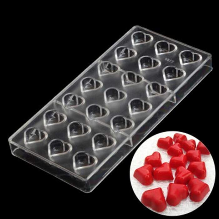 チョコレート型 モールド 板チョコ DIY ポリカーボネート バレンタインデー ハート形