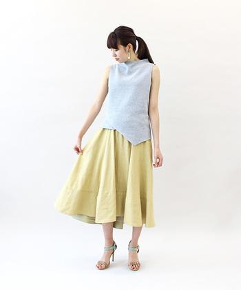 一枚でおしゃれ度グンとUP!「フィッシュテールスカート」コーデ集