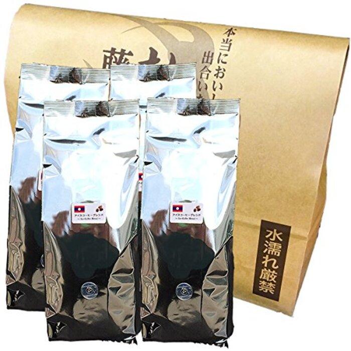 アイスコーヒー ラオスブレンド(粉・中細挽き) 500g×4袋【計2Kg】【藤田珈琲 コーヒー豆】