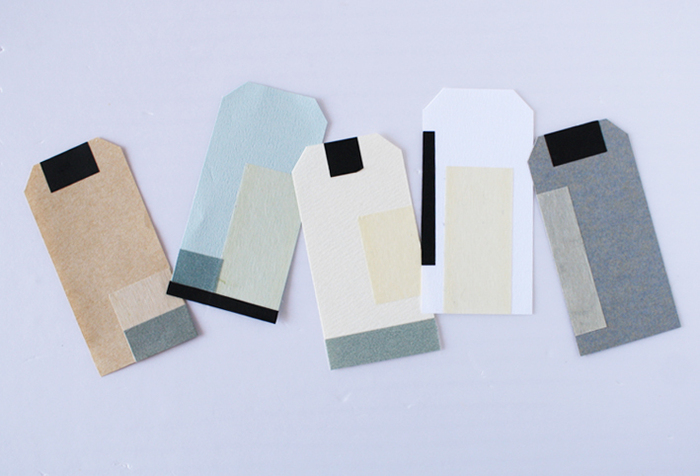 画用紙やクラフト紙にマスキングテープを貼り付けたり、可愛い包装紙や紙袋を使ったり…。オリジナルのタグを自作するのもおすすめです。