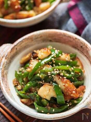 ピーマンが苦手な人でも食べやすい、お手軽レシピ。味付けは麺つゆにおまかせ!彩もいいのでお弁当の一品にも。