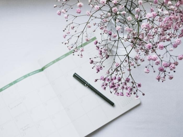 脳が物事を冷静に捉え、集中できる朝の時間は、課題への取り組みや書き物にぴったりの時間。そこで、今日一日だけの課題だけでなく、一週間分の課題を洗い出しましょう。