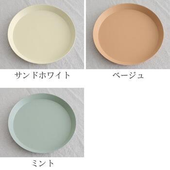 カラーは全3色です。北欧風のパステルカラーが可愛いですね!テーブルをぱっと明るくしてくれます。