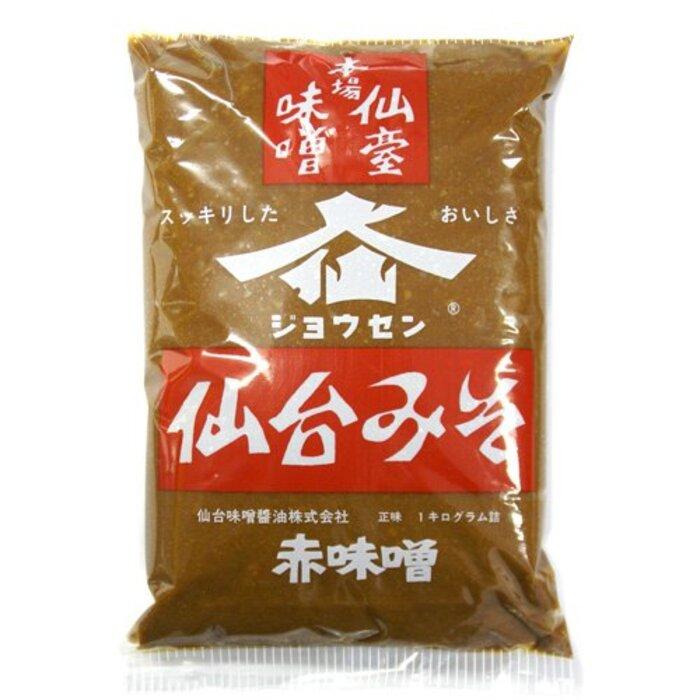 ジョウセン 仙台みそ 赤味噌 1袋 1kg 【東北支援、被災地特産品】