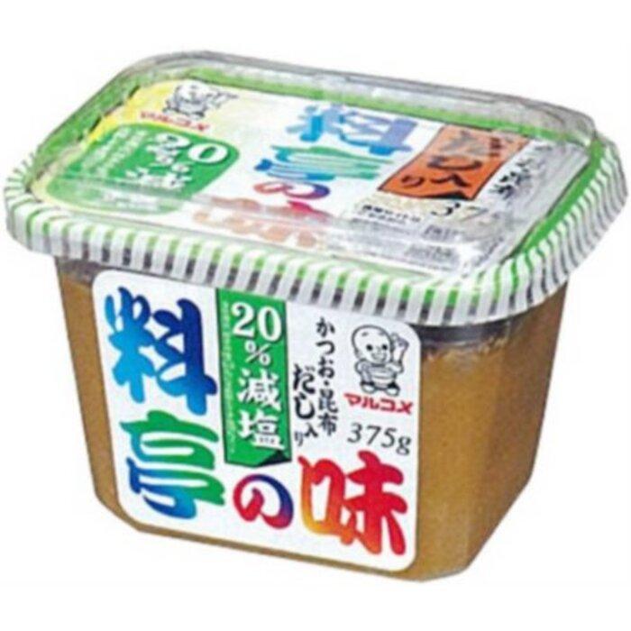 マルコメ 料亭の味 かつお・昆布 だし入り 【20%減塩】 375g
