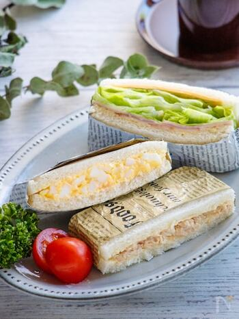流行りの具沢山サンドもいいけれど、まずは「基本のサンドイッチ」。ピクニックなど外で手軽に食べたいとき、定番シンプルな具材なら作るのも簡単な上、どの世代も好き嫌いなく食べられますね。