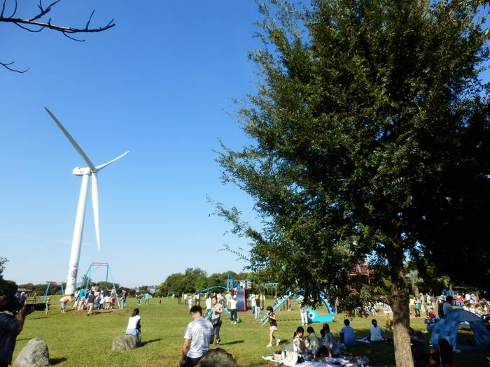 レジャーシートを敷いて芝生でピクニックをしたり、海沿いのサイクリングロードを自転車で走ったり、防波堤では海釣りを楽しむことも。大人も子供も、それぞれの過ごし方ができますよ。