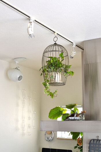 天井に埋め込むタイプのダクトレールは、お部屋がすっきりと♪空間を広く使えるので、インテリアの幅を広げることができるんです。